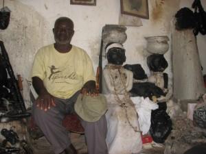 Fetish priest i Ashanti-regionen, Ghana.