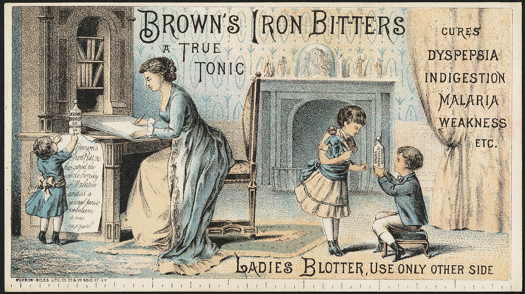Brown's Iron Bitters, a true tonic, cures dyspepsia, indigestion, malaria, weakness, etc. Ladies blotter, use only other side